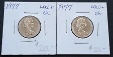 Lot of 2x 1977 Canada 5 Cent Nickels ***Low 7 Variety*** Choice Uncirculated