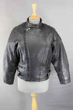 CLASSIC SKINNYFIT BLACK LEATHER SPORTEX A5 BIKER JACKET 36 INCH