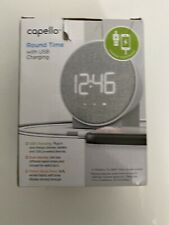 Capello Round Time Table Digital Clock - Gray New In Box