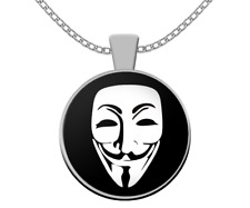 Anonymous 99% necklace - Guy Fawkes mask symbol - V For Vendetta cool gift