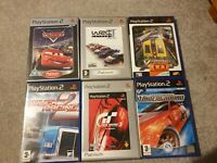 PS2 6 Racing Games Bundle (Sony PlayStation 2)