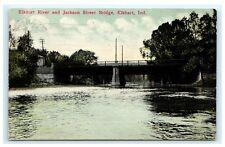 Elkhart River & Jackson Street Bridge Indiana IN 1912 A12