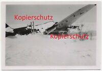 WK2 Foto russisches Flugzeug am Boden Winterkampf Abschuss 2257