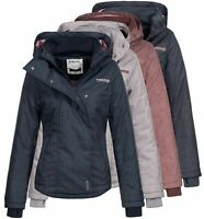 Sublevel Damen Jacke Übergangsjacke mit Kapuze Parka Anorak LSL-348