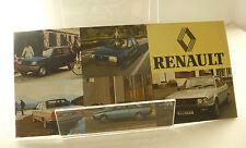 Renault Model Car Range 1981 Sales Booklet  Renault Car Sales Brochure