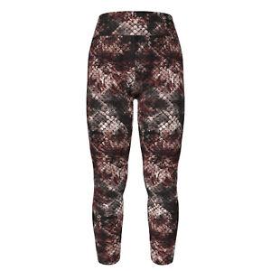 TC LuLaRoe Tall Curvy Leggings Floral Snake Skin Effect Pink Burgundy Black E29