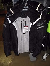 JOE ROCKET ATOMIC 5.0 BLACK AND SILVER MOTORCYCLE JACKET SIZE MEDIUM 1651-5503