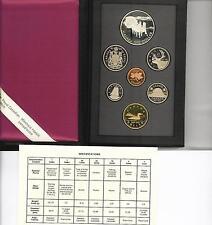 CANADA - SERIE MONETE DIVISIONALE 1992, 7Pz NON CIRCOLATO FONDO SPECCHIO (PROOF)