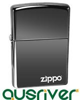 Genuine Zippo Black Ice 150ZL Logo Lighter Free of Engrave