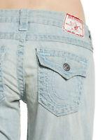 True Religion Jeans Sz 25 26 28 Women's Billy Super T Straight Leg Blue New