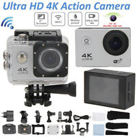 "WiFi 4K Ultra HD 1080P 2"" 16MP 170° Waterproof Sport DV Video Action Camera Cam"