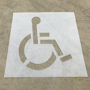 DISABLED PARKING Stencil / Car Park Stencil / Marking Stencil - 800mm High