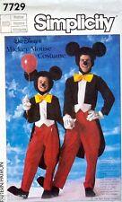 Sewing PATTERN Disney Mickey Mouse Adult Medium Costume Pants Jacket Head