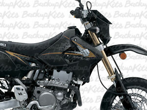 DRZ400SM 2013 GRAPHIC KIT DECALS for black GOLD (2000 - 2018)
