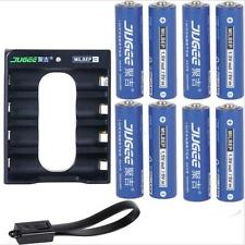 8X1.5v  AA 3000MAH Li-polymer  lithium rechargeable battery with Charger set
