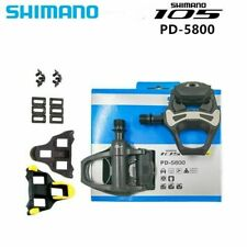 "SHIMANO SM Bicycle 105 PD-5800 SPD-SL Road Bicycle Pedals Clipless 9/16"" Carbon"