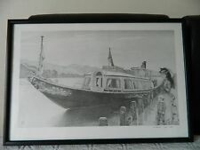 "Vintage limited edition print of ""The Gondola"" boat ship - signed"
