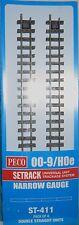 PECO St-411 Double Straight X4 Narrow Gauge Track 009/hoe