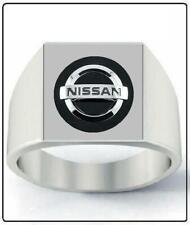 NISSAN SIGNET RING for men - size 9 thru 12 - silver car auto emblem logo z7qq