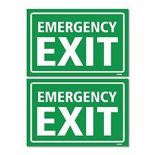 "Emergency Exit Sign, 4-Pack Self-Adhesive Vinyl 8.85 x 5.85"" Sticker Decal"