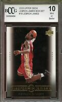 2003 Upper Deck #18 LeBron James Rookie Card BGS BCCG 10 Mint+
