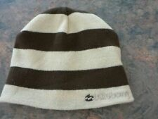 WOW~BILLABONG BOYS FADING RIGHT REVERSIBLE BEANIE BROWN&CREAM STRIPES.BRAND NEW!