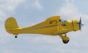"""Model Airplane Plans (UC): Beechcraft 17 1/16 Scale 24""""ws .15-.25 (Musciano)"""