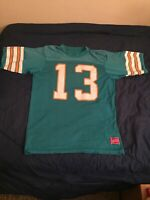 Vintage Miami Dolphins NFL #13 Jersey Size Unknown Appears XL (RARE)
