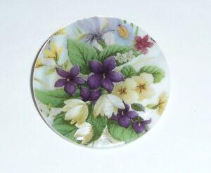 """Asst. Spring Flowers Bouquet Button - Mother of Pearl MOP Shank Button 1+3/8"""""""