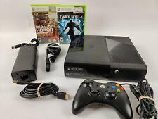 Microsoft Xbox 360 E 4Gb Black Console Bundle Tested & Works!