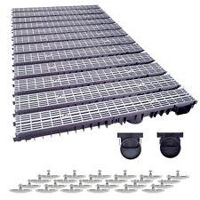 12m Entwässerungsrinne mit Dichtung A15 Grau-Line (Tiefe:100mm) komplett SET