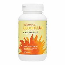 Arbonne Essentials Plus de calcio Con Vitamina D Suplemento Alimenticio 90 tablas