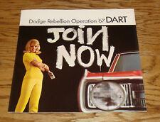 Original 1967 Dodge Dart Sales Brochure 67 GT 270