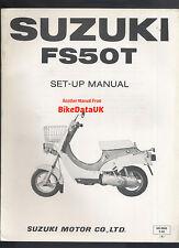 Genuine Suzuki FS50-T (1980 - >) concessionaria set-up MANUALE FS 50 PDI ASSEMBLY AG20