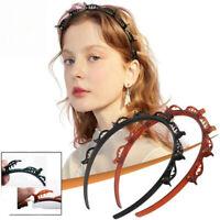 Practical Bangs Clip Hair Band Headband Multi-layer Hollow Braid Woven Hairband
