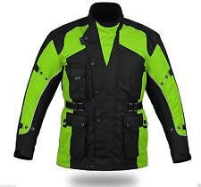 NEW HI VIZ SAFETY ADVENTURE CE FULL ARMOUR W/PROOF MOTORCYCLE CORDURA JACKET 2XL