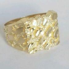 Big Man's 10k yellow Gold Nugget Ring Size 9 10.5 11 12