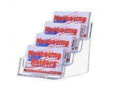 4 Pocket Countertop Business Card Holder