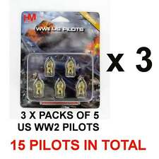 Hobby Master HP0001 X 3 1:72 scale WWII US Pilot Figures (3 PACKS = 15 PILOTS)