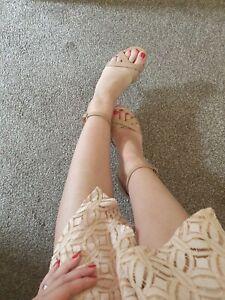 Womens Dorothy Perkins Wide Fit Sexy Heels Sandals Uk 5