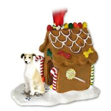 Greyhound Tan Dog Ginger Bread House Christmas ORNAMENT
