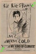 Rip Rig & Panic I Am Cold Advert NME Cutting 1982