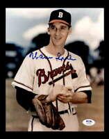 Warren Spahn PSA DNA Coa Hand Signed 8x10 Photo Autograph