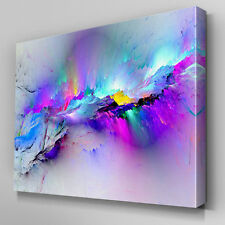 Modern multicoloured pink blue Canvas Wall Art Abstract Picture cool Large Print