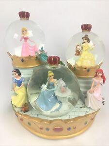 Disney Princess Crown Ball Musical Snow Globe A Dream Is A Wish Your Heart Makes