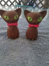 Vintage Cat Pair Salt and Pepper Shakers Set  - Lego Japan