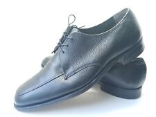 Hush Puppies Men's Sz 11w Black Leather Oxford Dress Shoes  (tu15)