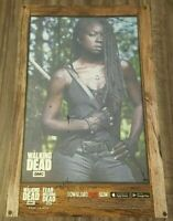 The Walking Dead Michonne Poster TOPPS NYCC 2019 Exclusive Card Trader Art Litho