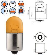 LAMPADINA 12V 10W BA15S LAMPADA ARANCIONE LAMPEGGIANTE ALFA ROMEO BMW OPEL AUDI
