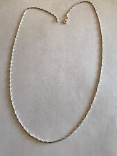 "Beautiful Fine Sterling Silver Twisted Serpentine Style Chain 24"" Long Sparkle!"
